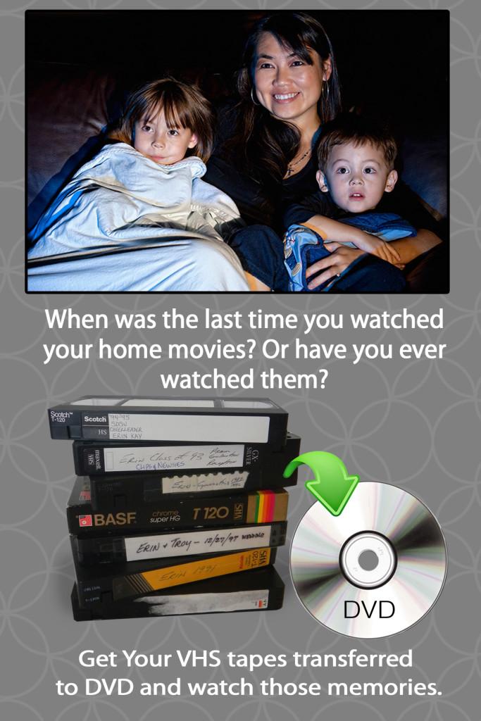 Video Transfers - VHS, 8mm, DVD