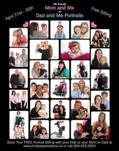 Portraits with Mom or Dad