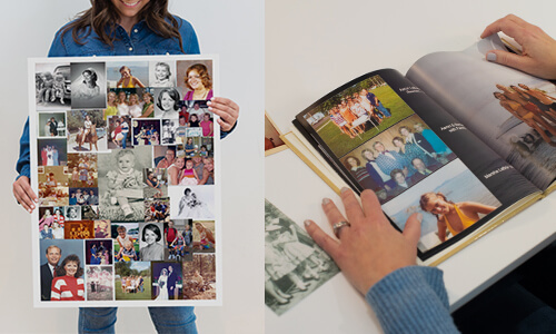 Create photobooks and poster