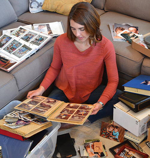 How to organized printed photographs