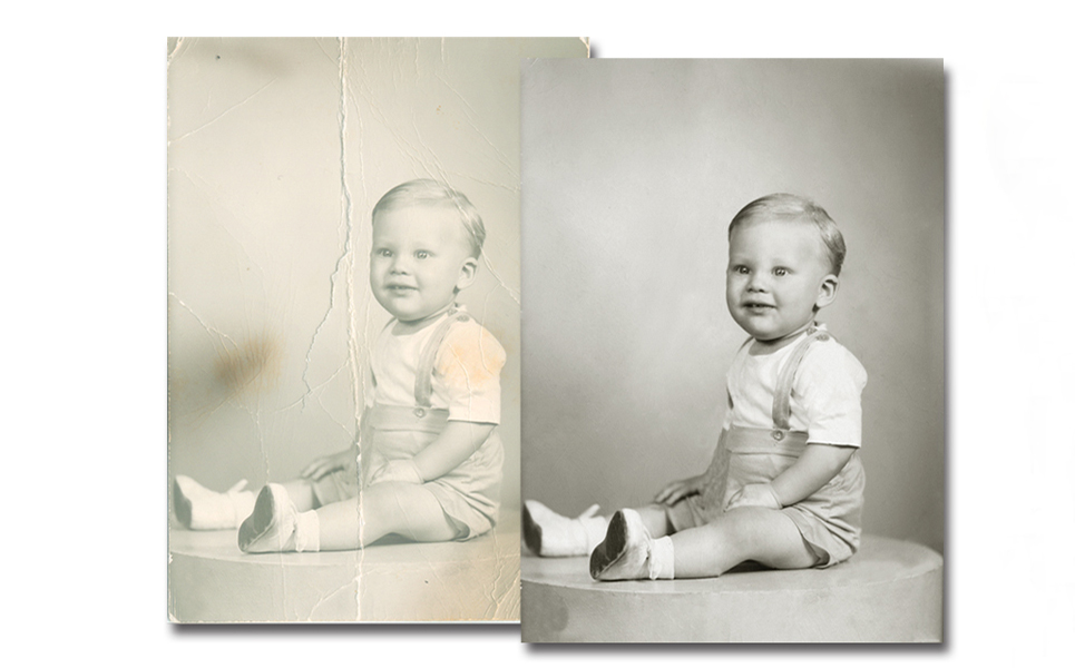 faded photo restoration
