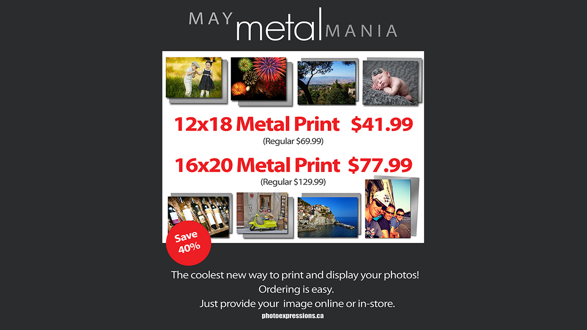 Print on Metal discount